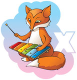 Kindalphabet: Zeichen X Lizenzfreie Stockbilder