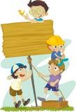 Kindaufbauen Stockfoto