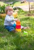 Kindbau mit nahen Augen Lizenzfreies Stockfoto