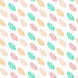 Kinder übergeben gezogenes nahtloses Muster für die Raumentwurfskleidung, die Darstellungsfahnen-Druckplakate einwickelt vektor abbildung