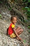 Kinder auf der Straße in Wamena, Neu-Guinea Insel, Indonesien Lizenzfreie Stockfotografie