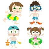 Kinder auf einem Strand 1 vektor abbildung
