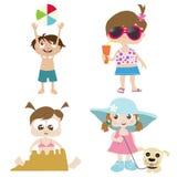 Kinder auf einem Strand 2 lizenzfreie abbildung
