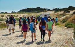 Kinder auf einer Exkursion Lizenzfreies Stockfoto