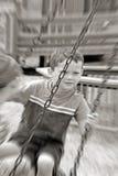 Kinder auf Gummireifenschwingen Stockfotos