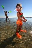 Kinder auf Meer lizenzfreies stockbild