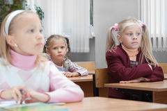 Kinder auf realer Lektion Stockfoto
