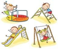 Kinder auf Spielplatz lizenzfreie abbildung