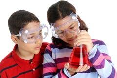 Kinder auf weißem Hintergrund Lizenzfreies Stockfoto