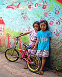 Kinder in Bandung, Indonesien Stockfotos