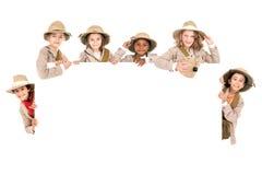 Kinder bereit zum Abenteuer Lizenzfreie Stockfotos