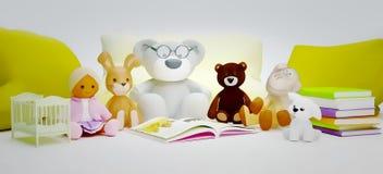 Kinder Bildung und glückliche Kindheit der Entwicklung Baby spielt Stockbilder
