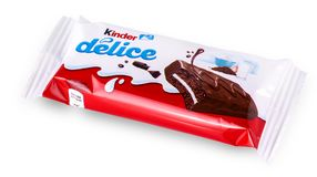Kinder Delice snack made from milk Royalty Free Stock Image