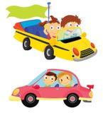 Kinder in den Autos stock abbildung