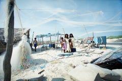 Kinder der Fischer Stockfotografie