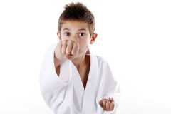 Kinder in der Kampfkunst Stockbild
