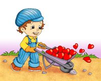 Kinder in der Liebe Lizenzfreie Stockbilder