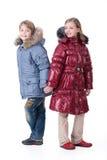 Kinder in der modernen Kleidung Lizenzfreies Stockbild