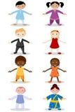 Kinder der unterschiedlichen Nation Lizenzfreies Stockbild