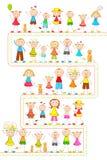 Kinder in der unterschiedlichen Stimmung lizenzfreie abbildung