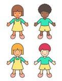 Kinder der verschiedenen Ethnien Lizenzfreie Stockfotografie