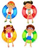 Kinder auf Wasser Lizenzfreie Stockbilder