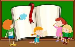 Tafel schreiben clipart  Schreibende Und Lesende Kinder Vektor Abbildung - Bild: 66686687