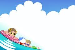 Kinder, die Badzeit genießen Lizenzfreie Stockfotografie