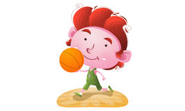 Kinder, die Basketball spielen stock abbildung