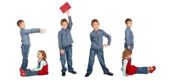 Kinder, die Collage des Wortes MÄDCHEN bilden Lizenzfreie Stockfotografie