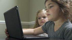 Kinder, die einen Laptop verwenden stock footage