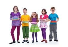 Kinder, die für Schule sich vorbereiten Lizenzfreies Stockfoto