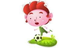 Kinder, die Fußball spielen vektor abbildung