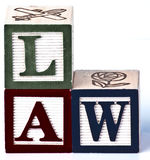 Kinder, die Gesetzesblöcke spielen Lizenzfreies Stockbild