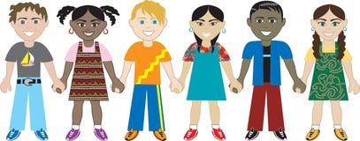 Kinder, die Hände 3 anhalten Stockbild