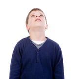 Kinder, die oben schauen Stockfotografie