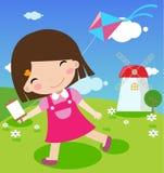 Kinder, die Spaß haben Stock Abbildung