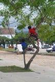 Kinder, die spielen - Paraty, Rio de Janeiro - Brasilien Lizenzfreies Stockbild