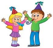 Kinder, die Themabild 1 feiern lizenzfreie abbildung