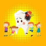 Kinder, die vom Zahnverfall schreien Lizenzfreies Stockbild
