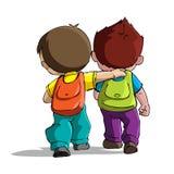 Kinder, die zur Schule gehen Stockbild