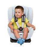 Kinder in einem Kinderautositz Stockfotografie