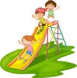 Kinder an einem Park Stockbild