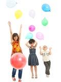 Kinder an einer Party Stockfotografie