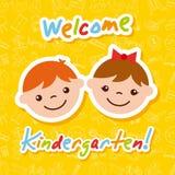 Kinder garten cartoon Royalty Free Stock Images