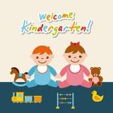 Kinder garten cartoon Royalty Free Stock Photography