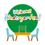 Kinder garten scenary. Icon vector illustration design graphic Royalty Free Stock Images