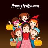 Kinder glückliches Halloween zusammen stock abbildung