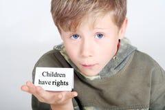 Kinder haben Rechte Stockbild