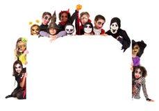 Kinder in Halloween Lizenzfreie Stockbilder